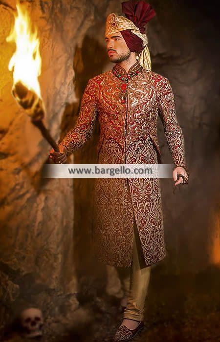 Custom Bespoke Sherwani for Groom Ilford UK Bespoke Sherwani Collection