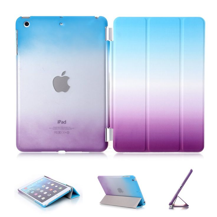 iPad Air Case, iPad Air Cover, DEENOR Colour Series Smart Cover Transparent Back Cover Ultra Slim Light Weight Auto Wake up/Sleep Function Protective Case Cover for Apple iPad Air iPad 5 With Screen Guard & Stylus. A04: Amazon.co.uk: Computers & Accessories