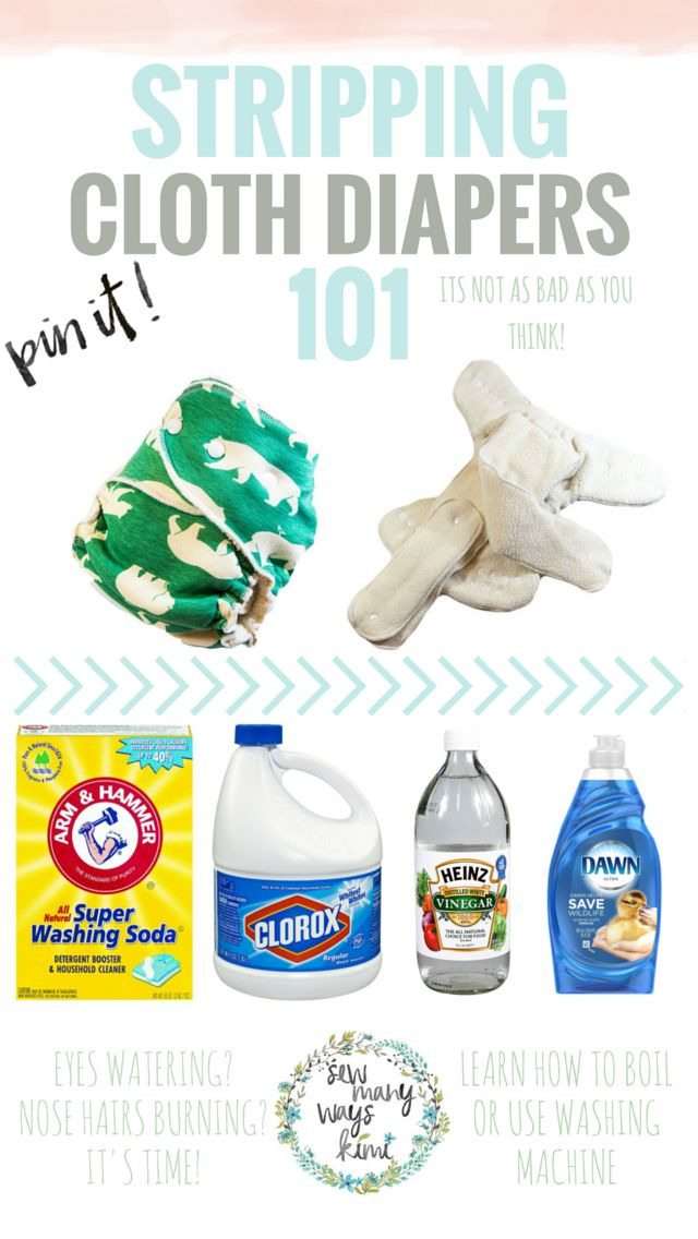 How To Strip Cloth Diapers. Stripping diapers are not as bad as you think. Includes how to boil and use washing machine.