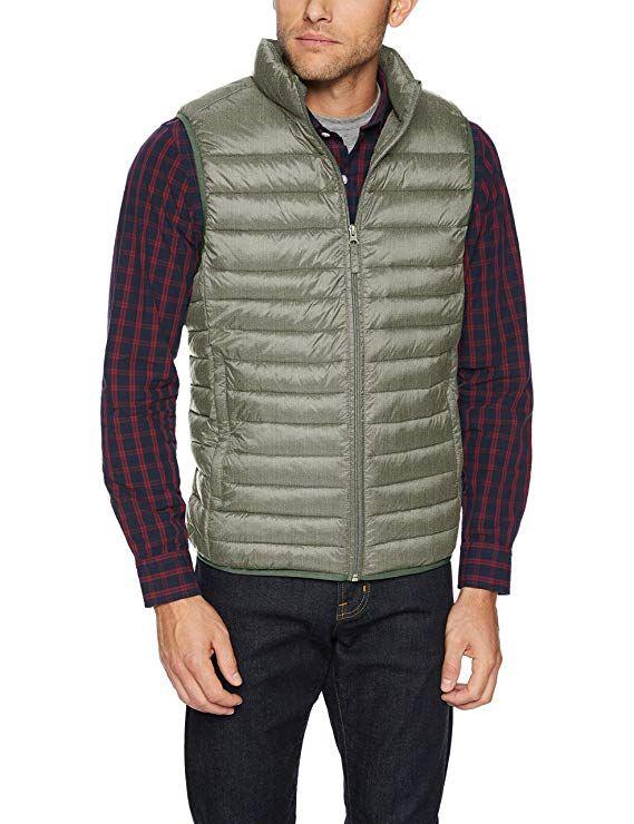X-Large Black Essentials Mens Lightweight Water-Resistant Packable Puffer Jacket