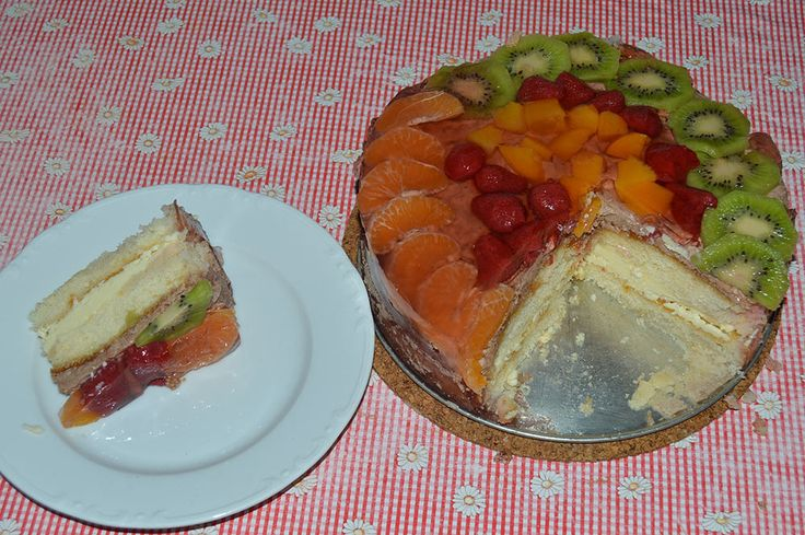 Recept na chutnú ovocnú tortu so želatinou