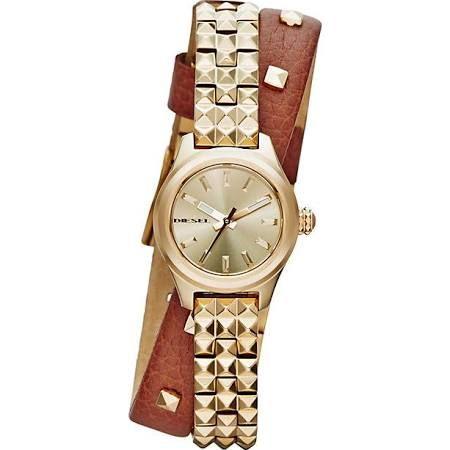 Diesel Kray Kray 22 Ladies' Gold-Plated Bracelet Strap Watch