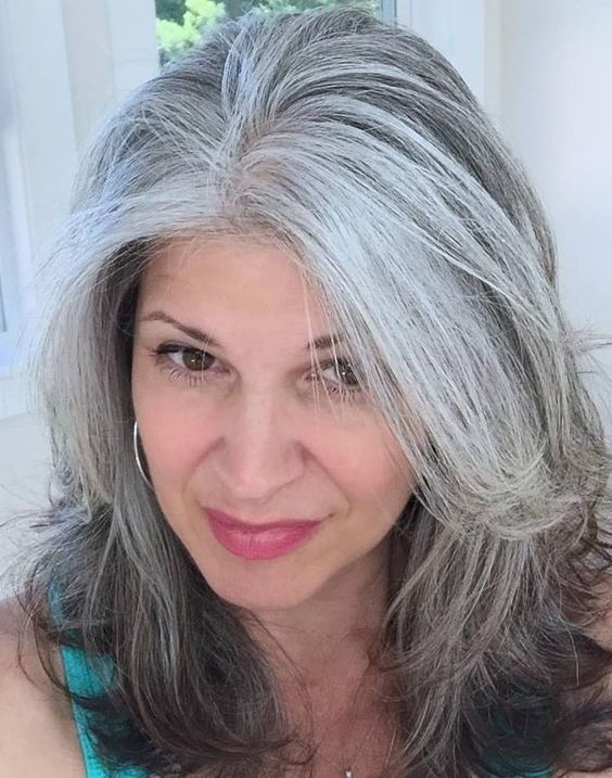 Image result for long grey hairstyles for women over 50 | Long gray hair, Gorgeous gray hair ...