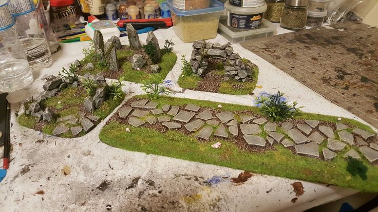 First round of Celtic Ruins ready for the table. Still a lot to build in order to fill a 6'x4' table.