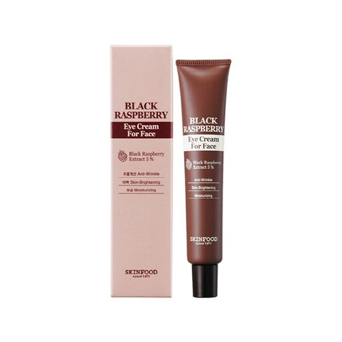 SkinFood Black Raspberry Eye Cream For Face 50ml    Features  A highly-concentrated and adhesive eye cream containing only necessary ingredients for thin and sensitive skin around your eyes. Contains 5% black raspberry extract and nutrients from 12 kinds
