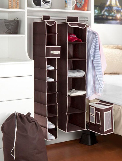 5 Piece Dorm Closet Set  I want one of these to organize my shoes.
