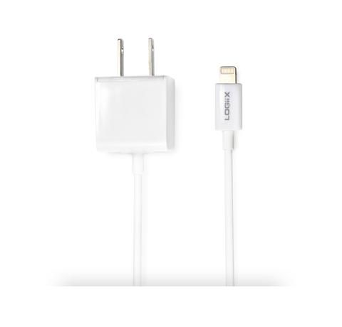 The LOGiiX Power Cube JOLT AC charger with built in Lightning cable for Apple Devices with Lightning Port white www.logiix.net #Logiix