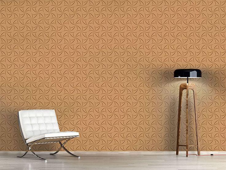 Design #Tapete Karamell Kreuze