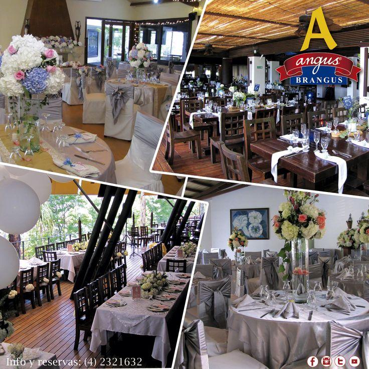 En Angus Brangus Parrilla Bar  contamos con diferentes salones para realizar todas tus celebraciones especiales. ¡Reserva ahora! y disfruta de exquisita comida, servicio diferencial y todas las comodidades que encuentras con nosotros.    www.angusbrangus.com.co Cra. 42 # 34 - 15 / Km. 1 Vía las Palmas. comunicaciones.angus@gmail.com  #Restaurantesparabodas #Medellín #AngusBrangus #banquetes #salonespararecepciones #novios #bodas #grados #cumpleaños #restaurantesmedellín #mejoresrestaurantes