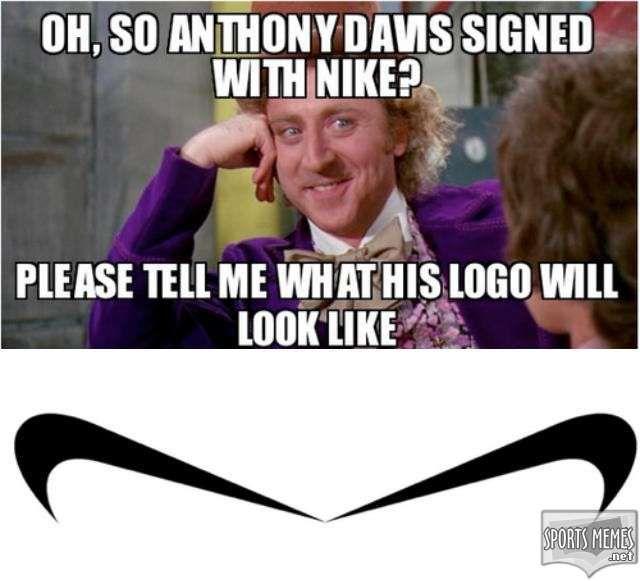 basketball memes | SportsMemes.net > Basketball Memes > The Anthony Davis Swoosh