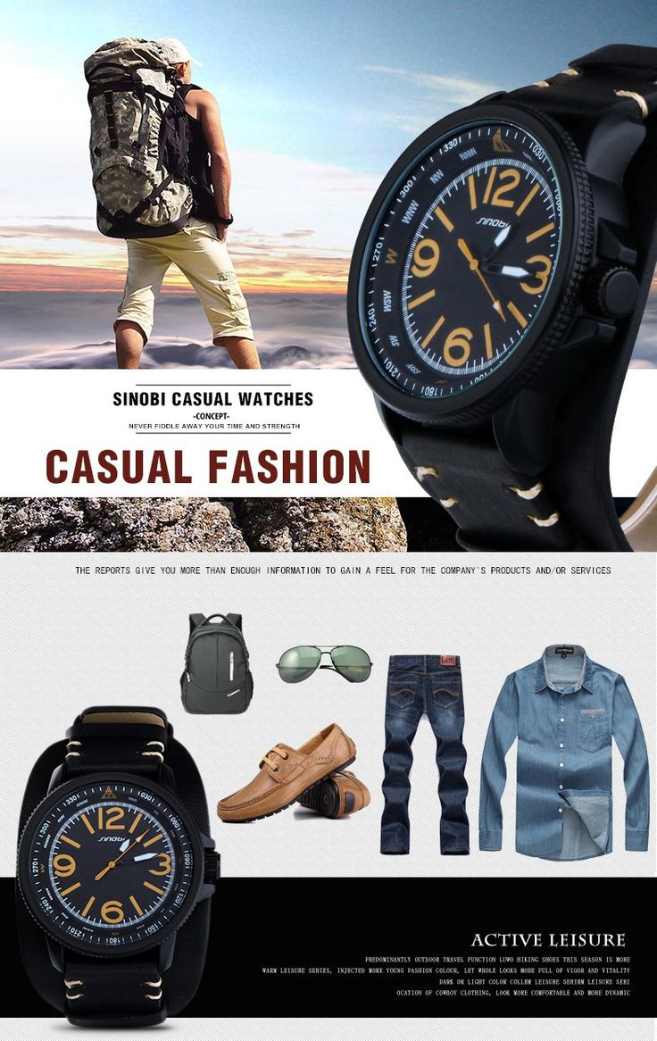 Famous Brand SINOBI 2016 new relogio masculino Casual Fashion Military Men Quartz Watch young Sport Climbing Athletic black Rubber runner yellowish brown time
