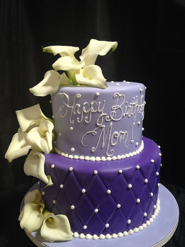 Purple Quilted Birthday Cake