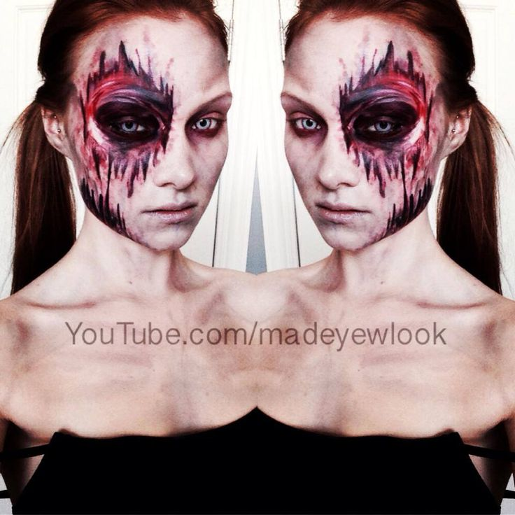 Easy, latex free, mess free zombie makeup tutorial! Check it out! Done by MadeULook. Find it on youtube.com/madeyewlook