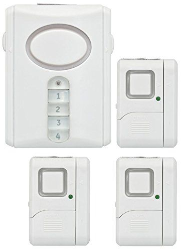 GE Personal Security Alarm Kit, Includes Deluxe Door Alarm with Keypad Activation and Window/Door Alarms, Easy Installation, DIY Home Protection, Burglar Alert, Magnetic Sensor, Off/Chime/Alarm, 51107 - The GE Personal Security Alarm Kit includes everything you need to help secure your home, including a deluxe door alarm with a four-digit keypad and three independent window alarms. Best of all, there's no wiring or drilling required for installation. This simple-to-use, cost-effective…