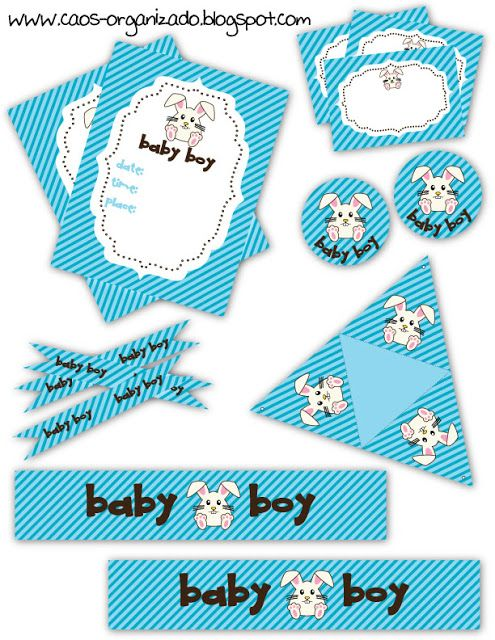 106 best Free - Printables parties - Baby Shower images on - baby shower template