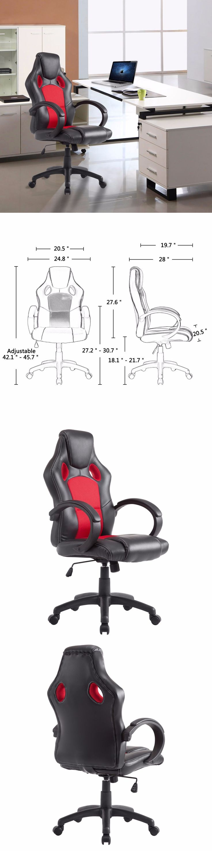 25 best executive office furniture ideas on pinterest executive furniture executive office chair pu leather swivel computer desk seat high back red black