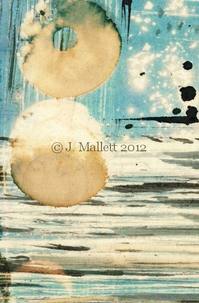 Ink and bleach drawing by Jule Mallett