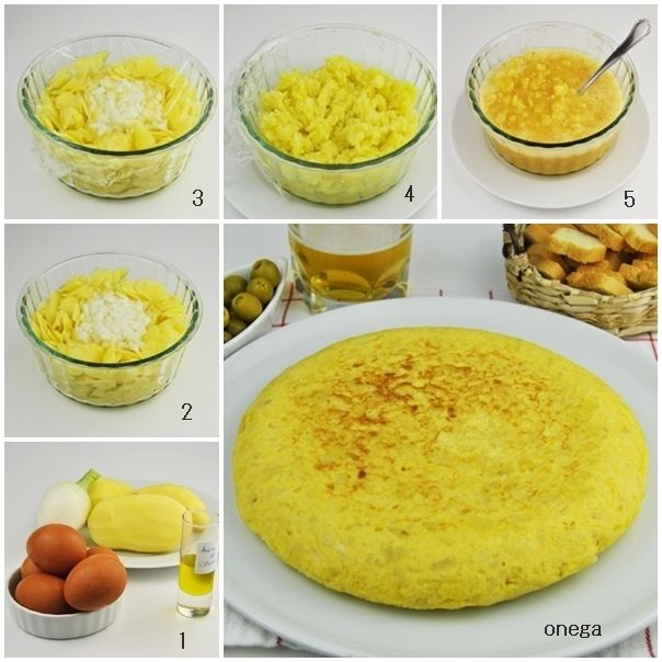 Tortilla de patatas light al microondas