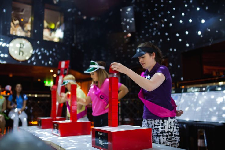Who has the steadiest hand? The Cube Challenge Hen Party Idea with Hen and Stag Sligo