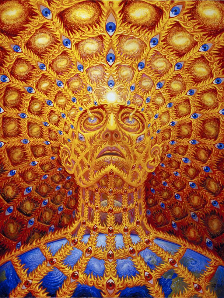 Oversoul - 1997, oil on linen, 30 x 40 in. Alex Grey