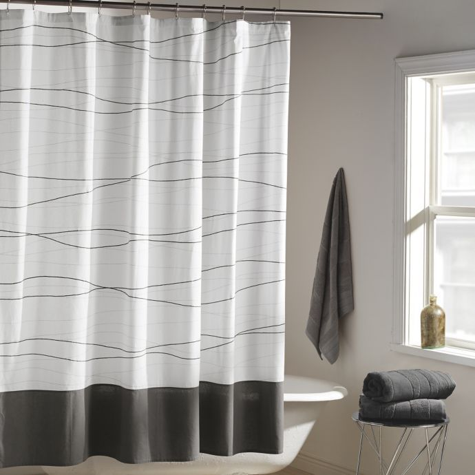 Guys Shower Curtains Waffle Weave Shower Curtain Modern Shower Curtains Unique Shower Curtain