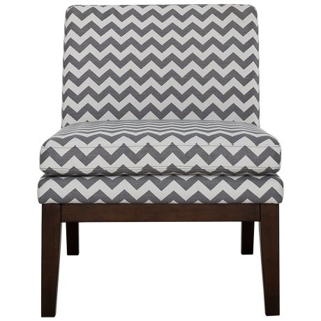 Slipper Chair Zig Zag Grey