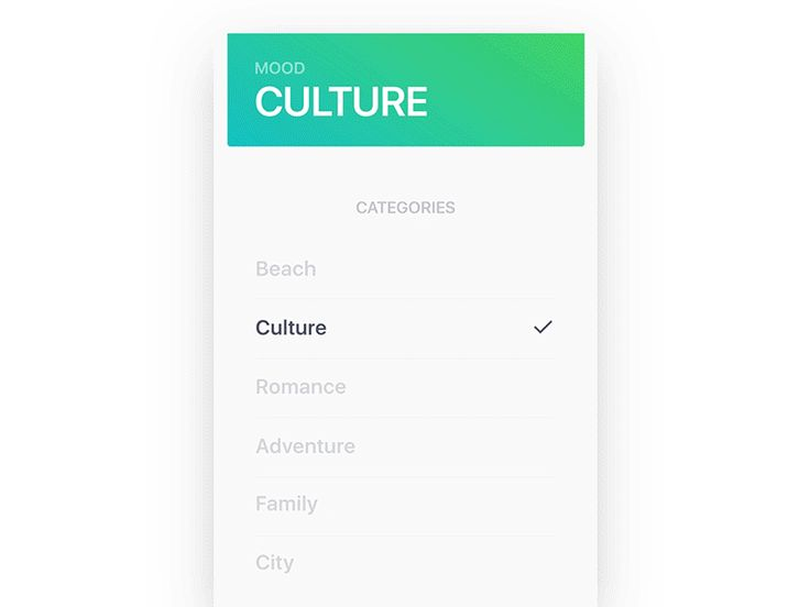 Card Transition for Tinder Travel — Concept