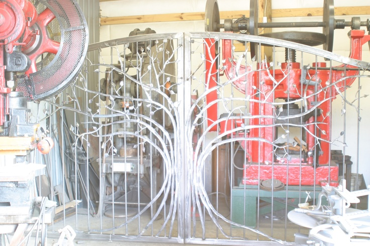 Exterior Driveway gate  Created & Hand Forged by Oak Hill Iron