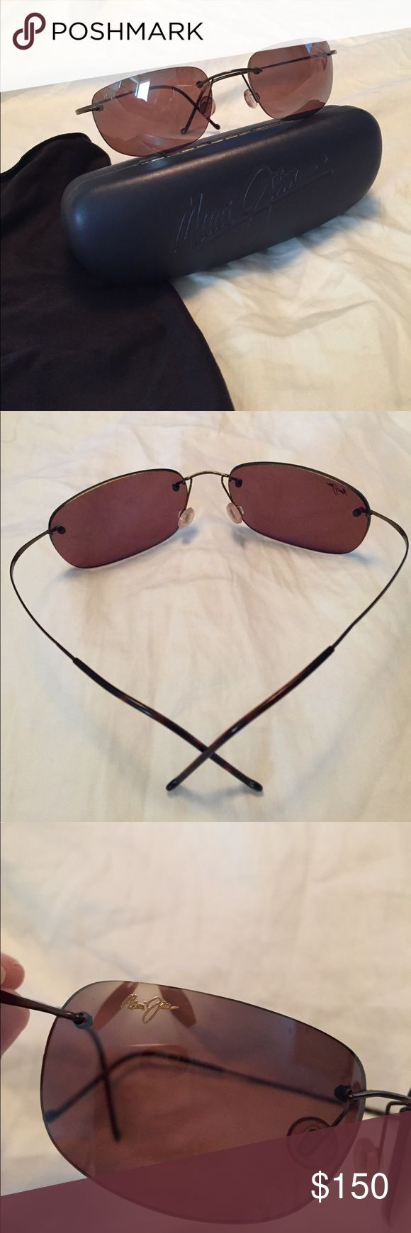 Maui Jim Sport Titanium w/ case and cloth Maui Jim Sport Titanium sunglasses, excellent condition. Comes with case and cloth (case shows minor wear on the inside). Polarized. Smoke free pet friendly home. Maui Jim Accessories Sunglasses
