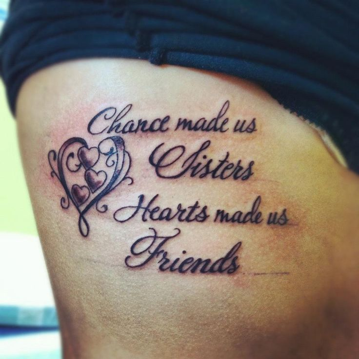 36 best sister heart tattoo images on pinterest sister for Sister in law tattoos