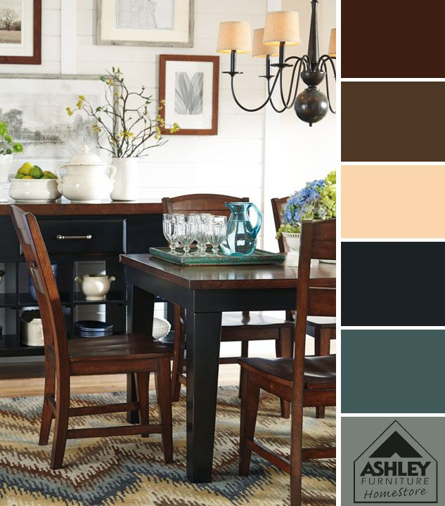 from ashley furniture homestore neutral tones look great with a calm blue as an accent color