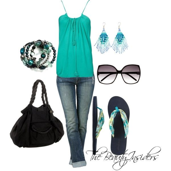Casual Weekends Outfits Ideas (Trapeze Keyhole Tank $15)