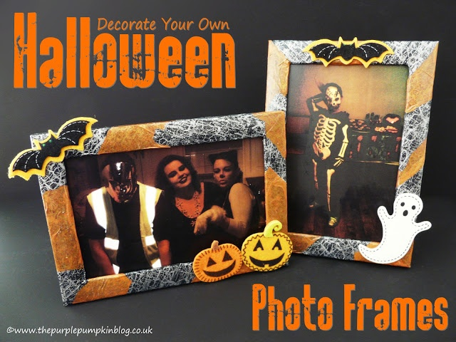 The Purple Pumpkin Blog: Decorate Your Own Halloween Photo Frames {Crafty October}
