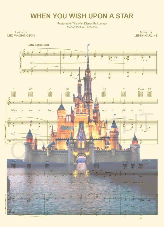 Impression dArt Disney World partition de musique par AmourPrints