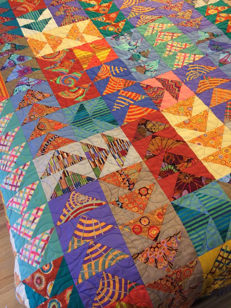 Kaffe Fassett geese :: value plays a role here,  besides the spectacular designer prints and intense colors.