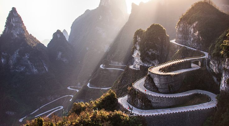 Tianmen Mountain in Zhangjiajie, China, is considered one of the most beautiful mountains in the world. To view its towering cliffs in all their glorious splendor, you must take the Tianmen Shan ca...