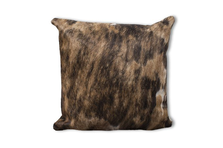 Caramel Brown Cowhide Large Pillow Case