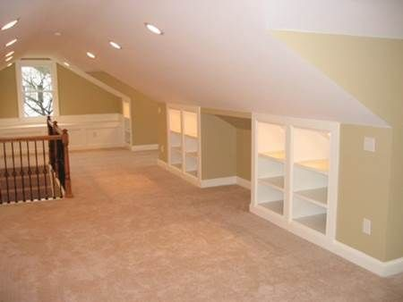 Attic renno with built in knee wall storage