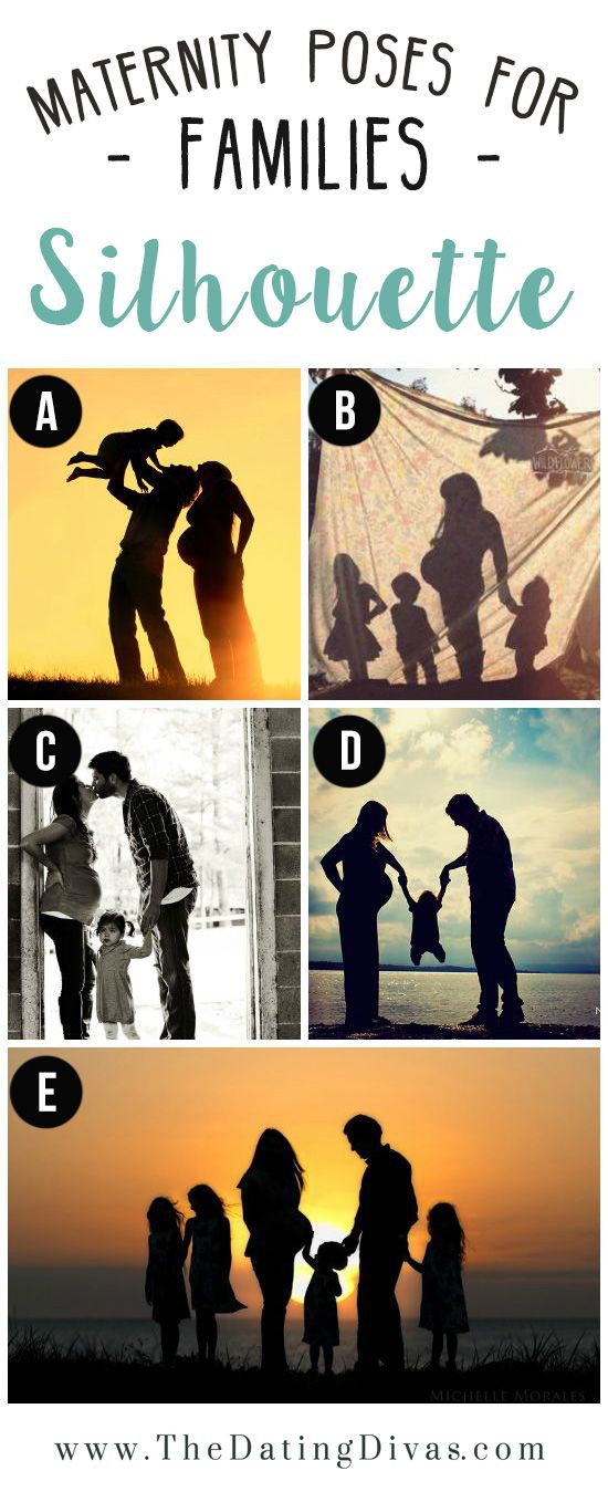 Tons of great maternity photos ~ Family Silhouette Maternity Photo