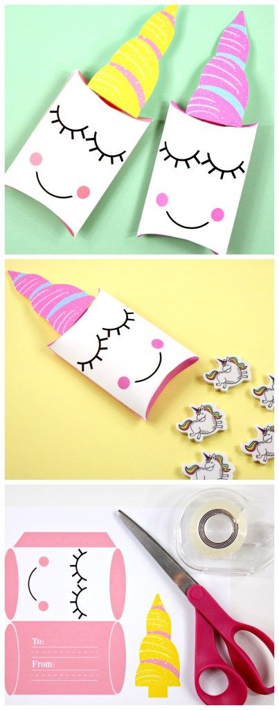 With toilet paper rolls painted as party favors with candy inside?