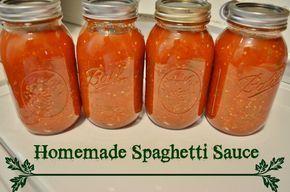 homemade garden fresh spaghetti sauce - canning recipe