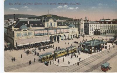 N D Phot Postcard - 595 Nice, La Place Masséna et le Casino Municipal, 1917