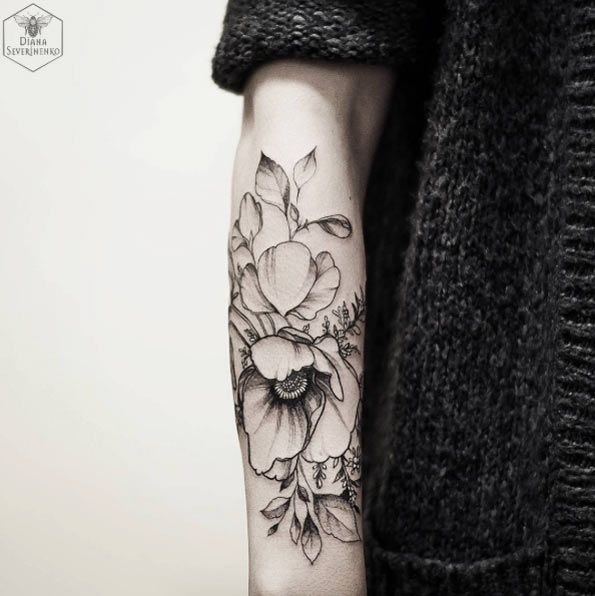 Poppy Forearm Work by Diana Severinenko