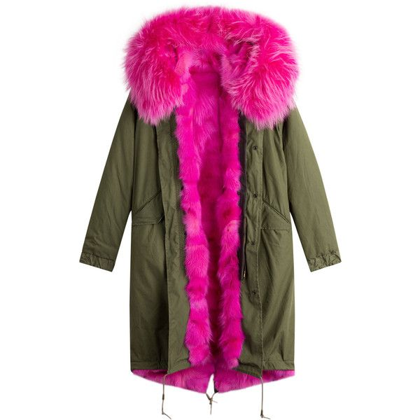 AS65 Parka Coat (134.265 RUB) ❤ liked on Polyvore featuring outerwear, coats, green, green hooded coat, green coat, hooded parka coat, hooded coat and green hooded parka