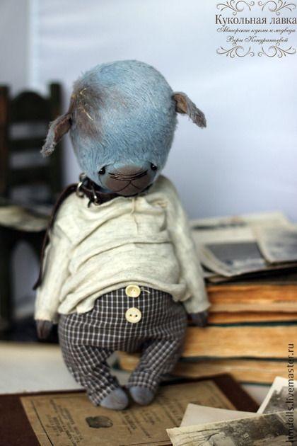 Очень Голубой Щенок - голубой щенок,голубой,бежевый,коричневый,тедди,мишка