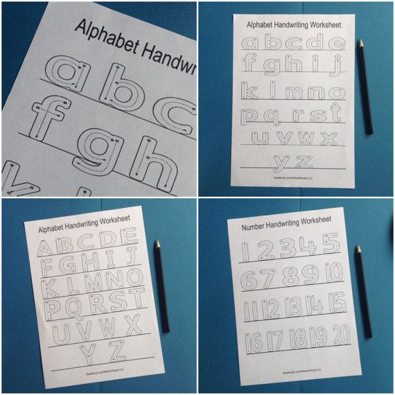Alphabet / Number handwriting worksheets  by BlessItForward