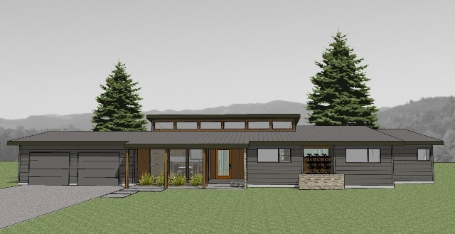 Atomic Ranch Elevation House Plan : Best atomic ranch images on pinterest modern