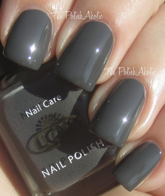The PolishAholic: LCN Fall 2012 Urban Expression Collection Swatches - Tokyo Expression is a dark grey creme