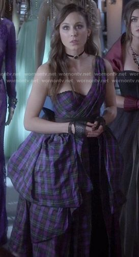 Spencer's plaid prom dress on Pretty Little Liars. Outfit Details: http://wornontv.net/47196/ #PLL