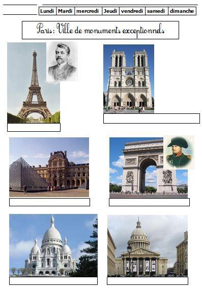 Paris parmi les grandes villes de France et les fleuves CE1 (+ monuments) | BLOG GS CP CE1 CE2 de Monsieur Mathieu JEUX et RESSOURCES